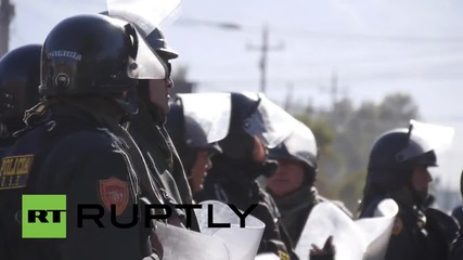 Протести против медна мина в Перу