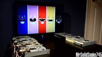 Флопита изпъняват Power Rangers Theme
