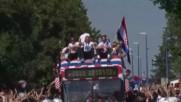 Croatia: Croatian football team receives hero's welcome