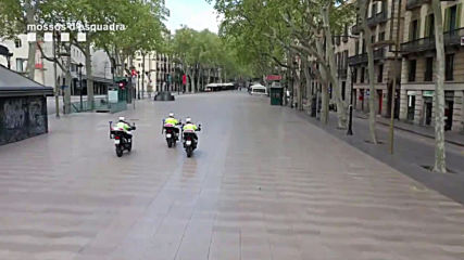 Spain: Barcelona streets remain empty during coronavirus outbreak