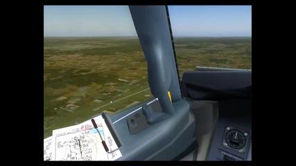 Flight Simulator 9 - София до Горна оряховица - 8х скорост