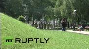 Ukraine: Hundreds mark 74th year since start of Great Patriotic War in Donetsk