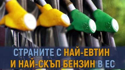 Страните с най-евтин и най-скъп бензин в ЕС