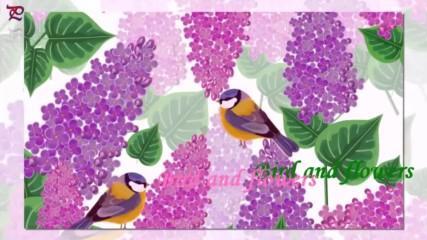 Птици и цветя ... (painting)