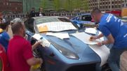 USA: Trump-themed LAMBORGHINI joins luxury rides at Gold Rush Rally