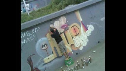 New Graffiti In City Tzarevo