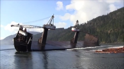 Най-бързият начин за разтоварване на дърва от кораб!