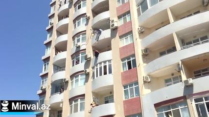 Храбър съсед рискува живота си, за да спаси комшийка самоубийца