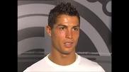 Кристиано Роналдо с прьв гол за Real Madrid и коментар за него