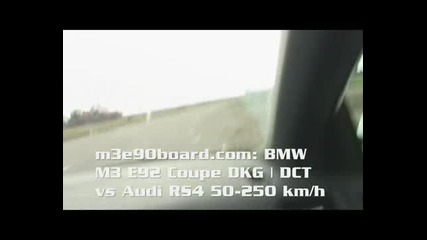 Bmw M3 E92 Vs Audi Rs4 50 - 250 Km
