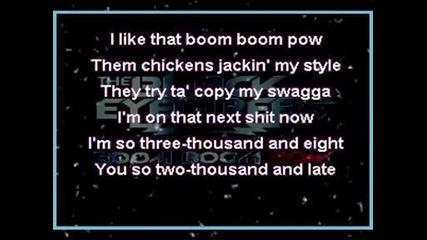 Black Eyed Peas , The - Boom Boom Pow Kara0ke