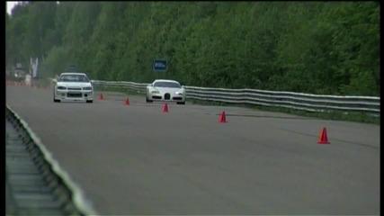 Bugatti Veyron vs Nissan Skyline