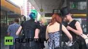 Germany: THOUSANDS of black-clad clubbers descend on Leipzig for gothic festivities