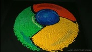 Google Chrominos - напавено от домино