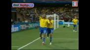 Сащ 0 - 3 Бразилия Купа на конфедерациите - страхотен гол на Дъглас Майкон 18.06.09