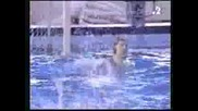 Water Polo Goalkeeper Score Goal For Win.