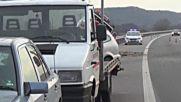 """Лек автомобил удари кола на """"Пътна помощ"""" край Бобошево"""