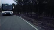 Екстремно каране на скейтборд едва не завърши с инцидент