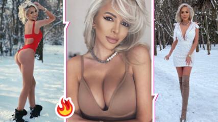 Едно секси и палаво зайче: Жанета Осипова се разголи в снега, цитира Хю Хефнър