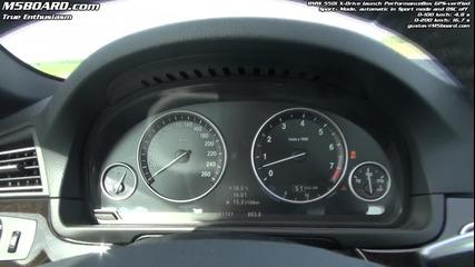 Ускорение на Bmw 550i (f10) xdrive - Hd