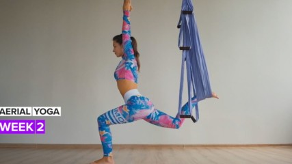 This is week two of your aerial yoga journey