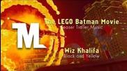 The Lego Batman Movie - Teaser Trailer Song (wiz Khalifa - Black and Yellow)
