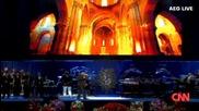 Лионел Ричи пее на погребението на Майкъл Джексън 07.07.2009