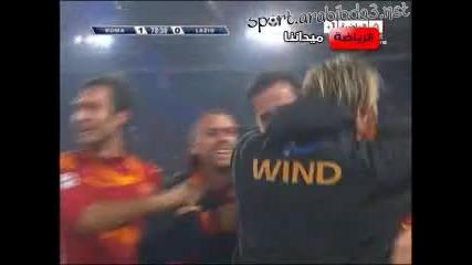 Рома 1 - 0 Лацио гол на Касети