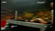 R A W 06/22/09 Triple H vs Randy Orton [ Last man standing Wwe Championship match] *първа част*