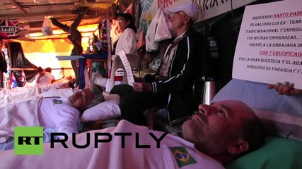 Paraguay: Protesters get crucified in dispute over salaries