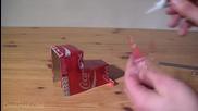 Как да си направим камион на Coca Cola от празни кутийки кока-кола!