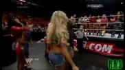 """"""" Музикални столове """" играят всички диви от Wwe - Wwe Raw Country 18/11/13"""