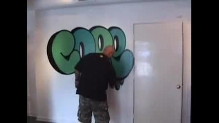 Natpis sys sprey na stena
