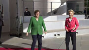 Germany: Merkel welcomes von der Leyen to Federal Chancellery in Berlin