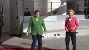 Germany: Merkel welcomes von der Leyen to Federal Chancellery in Berlin