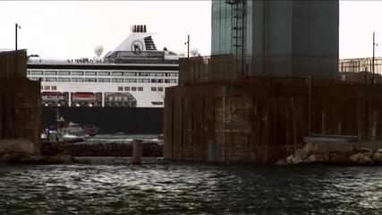 Spaceship Enterprise Barges Into Bayonne _ Video