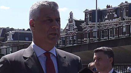 Netherlands: Kosovo Pres. Thaci arrives at Hague to be interviewed on war crime charges