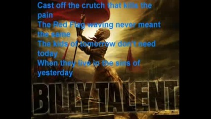Billy Talent - Red Flag Lyrics