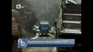 Тир блокира движението между общините Ботевград и Мездра