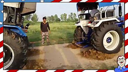 Забавна игра с трактори