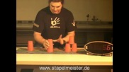 Cup Stacking - Super - Slow - Motion - 250 fps