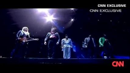 Cnn Exclusive! Кадри От Последната Репетиция На Покойния Michael Jackson Поклон!