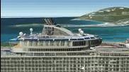 от Google Earth може да видите най -големия кораб в света Oasis of the Seas