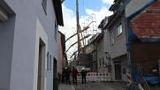 Germany: Scaffolding crashes into building in Ludwigsburg as gale-force winds hit Germany