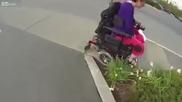 ( ; Човек помага на инвалид