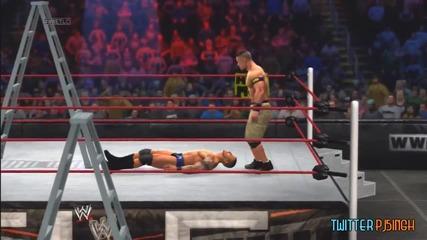 Tlc 2013_ John Cena vs Randy Orton - Unified Title Match (wwe 2k14)