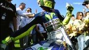 Rossi's lap of honour /valencia 2015/