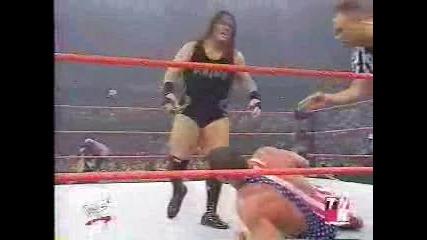 Wwf - Kurt Angle vs. Rhyno - Raw 10 - 22 - 01 (wcw U.s. Title)
