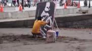 художник показва майсторство