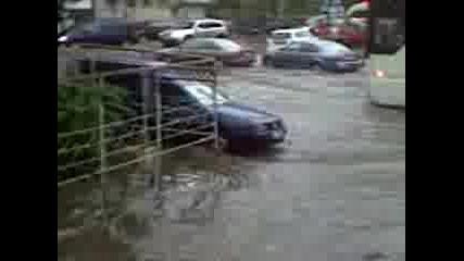 Центъра На Бургас След 20 Минутен Дъжд